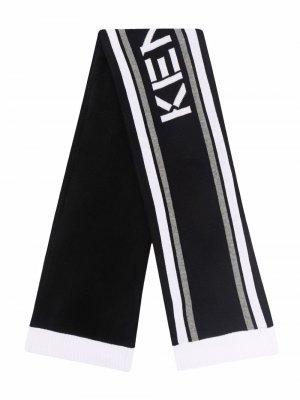 Полосатый шарф Kenzo Kids. Цвет: черный
