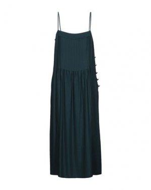 Платье длиной 3/4 DES PETITS HAUTS. Цвет: темно-зеленый