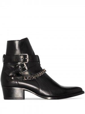 Jodhpur Chain leather ankle boots AMIRI. Цвет: черный