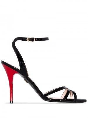 Босоножки на контрастном каблуке Charles Jourdan