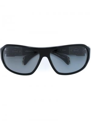 Солнцезащитные очки Hung Chrome Hearts. Цвет: чёрный