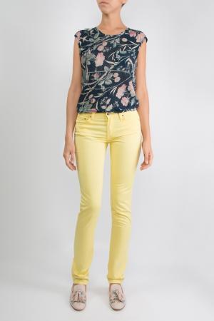 Желтые облегающие брюки Miller Harris. Цвет: желтый
