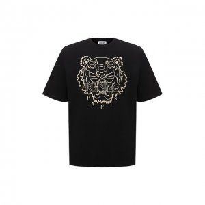 Хлопковая футболка Kenzo. Цвет: чёрный