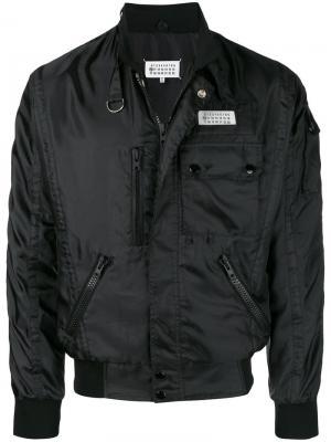 Куртка-бомбер с карманами Maison Margiela. Цвет: черный