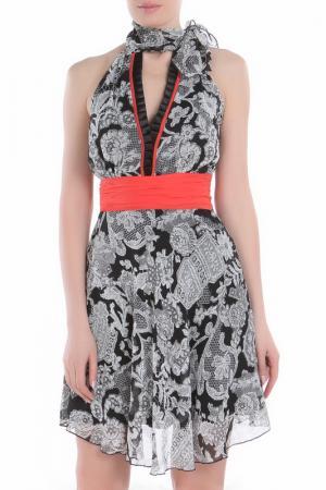 Платье Explosion. Цвет: черный, белый