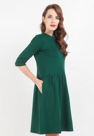 Платье La Vida Rica. Цвет: зеленый