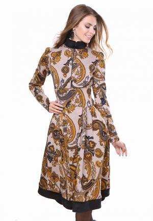 Платье Olivegrey DANELIA. Цвет: бежевый