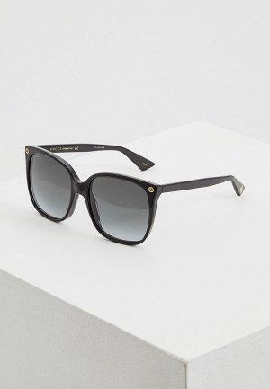 Очки солнцезащитные Gucci GG0022S001. Цвет: черный