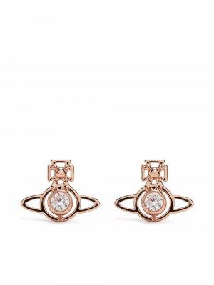 Серьги-гвоздики Nora с декором Orb Vivienne Westwood. Цвет: розовый