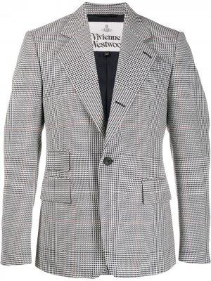 Однобортный пиджак в клетку Vivienne Westwood. Цвет: черный
