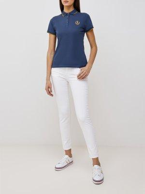 Поло Trussardi Jeans. Цвет: siniy