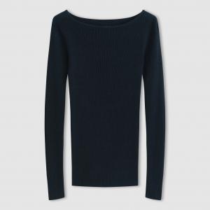 Пуловер с круглым вырезом из вискозы/хлопка R essentiel. Цвет: слоновая кость