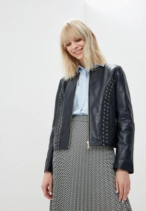 Куртка кожаная Max&Co. Цвет: синий