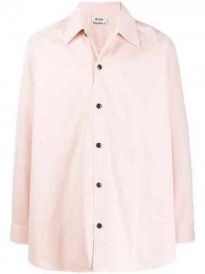 Рубашка свободного кроя Acne Studios. Цвет: розовый