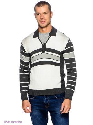 Пуловер Davani. Цвет: темно-серый, светло-серый, белый