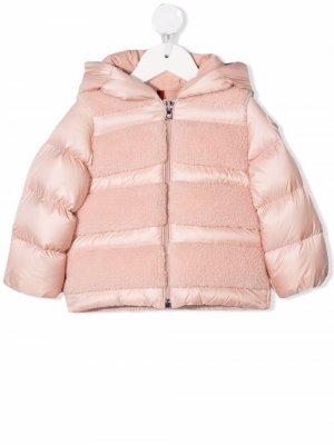 Shearling padded coat Moncler Enfant. Цвет: розовый
