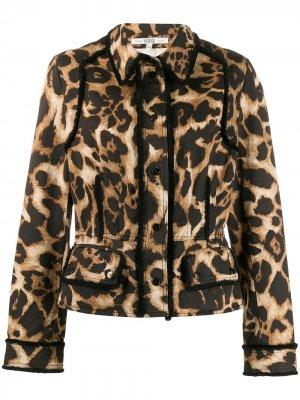 Куртка 1990-х годов с леопардовым принтом Gianfranco Ferré Pre-Owned. Цвет: черный
