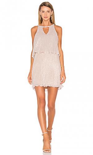 Платье cerine Ella Moss. Цвет: металлический серебряный