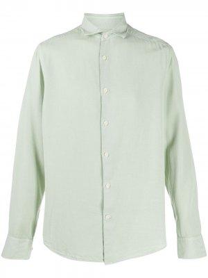 Рубашка на пуговицах с длинными рукавами J Lindeberg. Цвет: зеленый