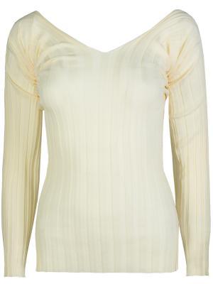Шерстяной пуловер CELINE. Цвет: желтый
