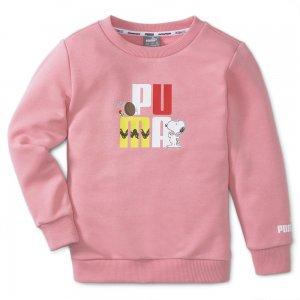 Детская толстовка x PEANUTS Crew Neck Kids Sweatshirt PUMA. Цвет: розовый