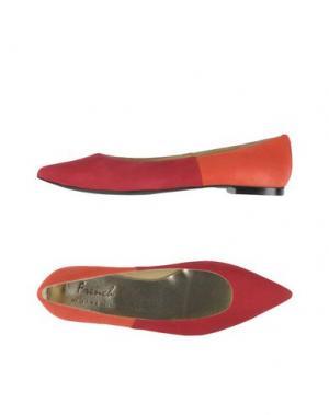 Балетки FRENCH SOLE. Цвет: красный