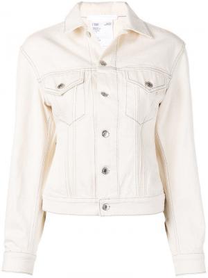 Базовая джинсовая куртка Helmut Lang. Цвет: нейтральные цвета