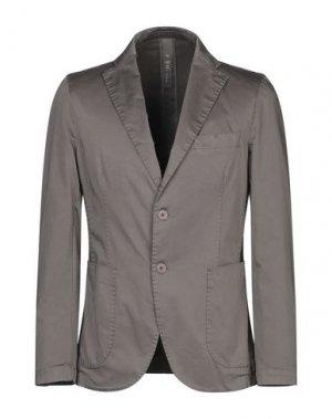 Пиджак FAG. Цвет: голубиный серый