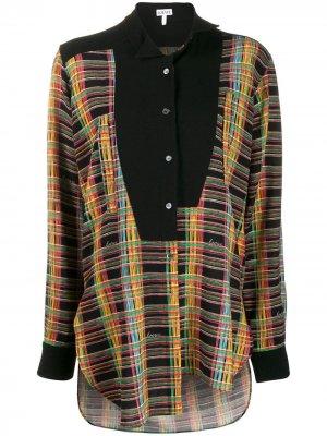 Блузка со смещенной застежкой на пуговицах LOEWE. Цвет: черный