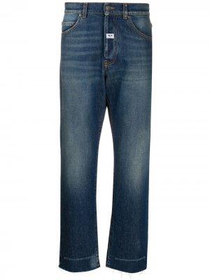 Укороченные джинсы широкого кроя MSGM. Цвет: синий