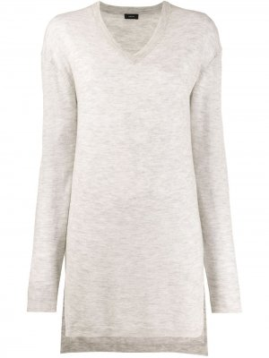Удлиненный кашемировый пуловер Joseph. Цвет: серый
