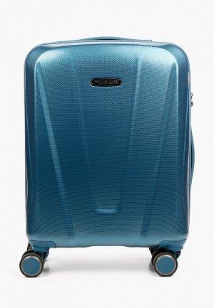 Чемодан Wittchen Cabin size. Цвет: голубой