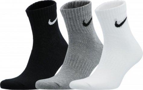 Носки Everyday Lightweight, 3 пары, размер 37-41 Nike. Цвет: серый