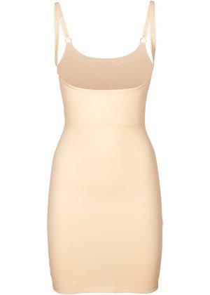 Моделирующее фигуру платье на регулируемых беретлях bonprix. Цвет: бежевый