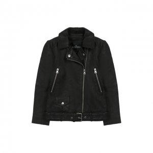 Кожаная куртка Designers, Remix girls. Цвет: чёрный