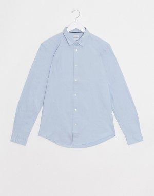 Голубая эластичная рубашка -Синий Esprit
