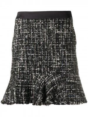 Юбка из ткани букле Karl Lagerfeld. Цвет: черный