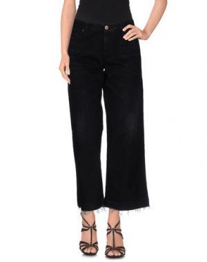 Джинсовые брюки-капри SIMON MILLER. Цвет: черный