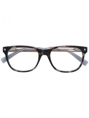 Tortoiseshell-effect square glasses Ermenegildo Zegna. Цвет: коричневый