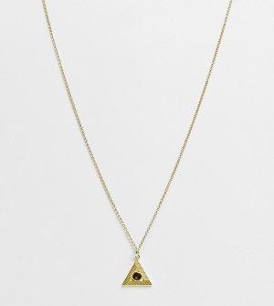 Позолоченное ожерелье с подвеской в виде треугольника -Золотистый Serge DeNimes