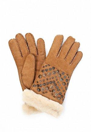Перчатки UGG Australia UG174DWJG881. Цвет: коричневый
