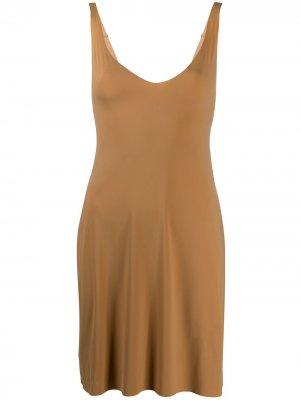 Sleeveless shape dress Wolford. Цвет: коричневый
