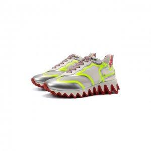 Комбинированные кроссовки Sharkina Christian Louboutin. Цвет: разноцветный