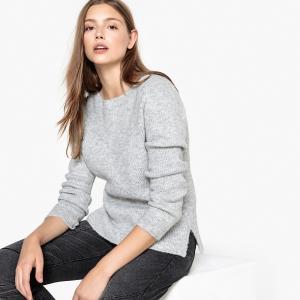 Пуловер с вырезом-лодочкой из плотного трикотажа MAKAYNE SUD EXPRESS. Цвет: жемчужный