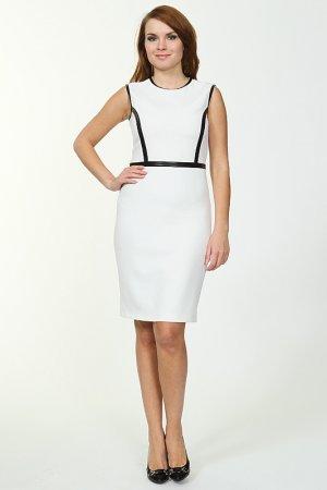 Платье TUZUN. Цвет: белый, черный