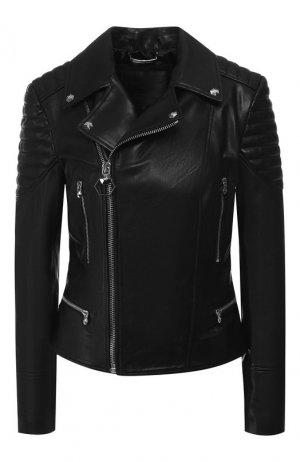 Кожаная куртка Philipp Plein. Цвет: черный
