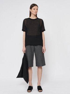 Блуза Rene прозрачная GATE31. Цвет: черный