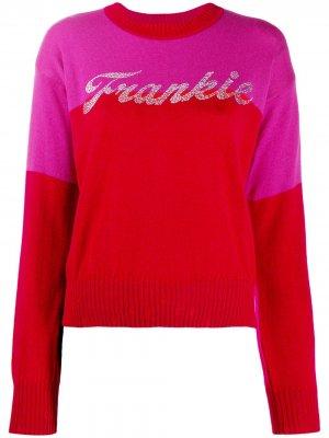 Пуловер с логотипом Frankie Morello. Цвет: розовый
