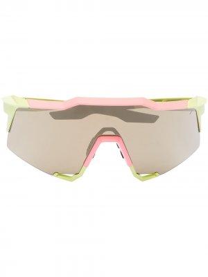 Спортивные солнцезащитные очки Speedcraft 100% Eyewear. Цвет: розовый