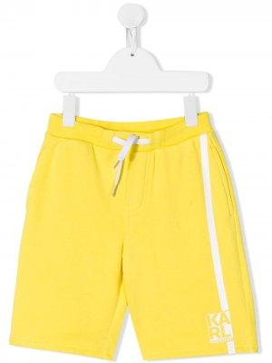 Шорты-бермуды Karl Lagerfeld Kids. Цвет: желтый